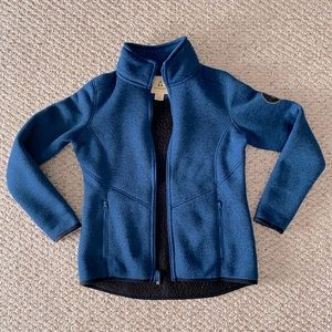 Ascend Sherpa-Lined Sweater Zip-Up Jacket Size S
